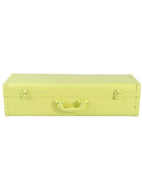 Dekorazon Suitcase Bavul Duvar Rafı Sarı